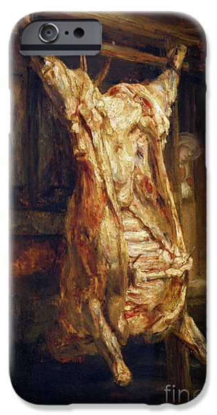 The Slaughtered Ox iPhone Case by Rembrandt Harmenszoon van Rijn