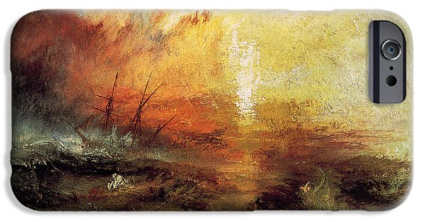 Storms Paintings iPhone Cases - The Slave Ship 1840 iPhone Case by Joseph Mallord William Turner