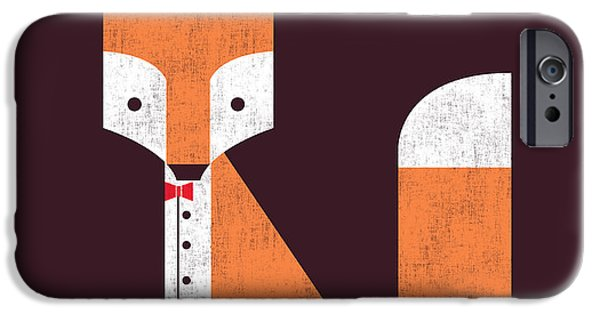 Geometric Animal iPhone Cases - The Sly Fox iPhone Case by Budi Kwan