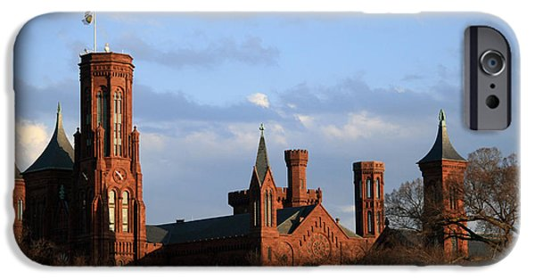 Smithsonian iPhone Cases - The Smithsonian Castle iPhone Case by Cora Wandel