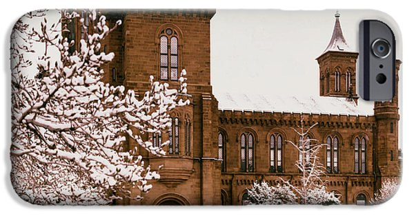 Smithsonian iPhone Cases - The Smithsonian Castle iPhone Case by Mountain Dreams