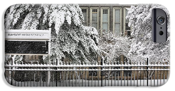 Bayside iPhone Cases - The Snow Day iPhone Case by JC Findley