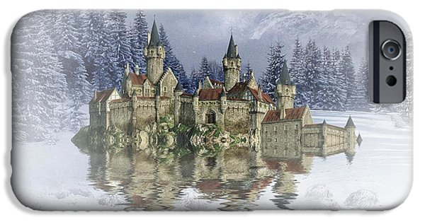 Snow Scene Mixed Media iPhone Cases - The snow palace iPhone Case by Sharon Lisa Clarke