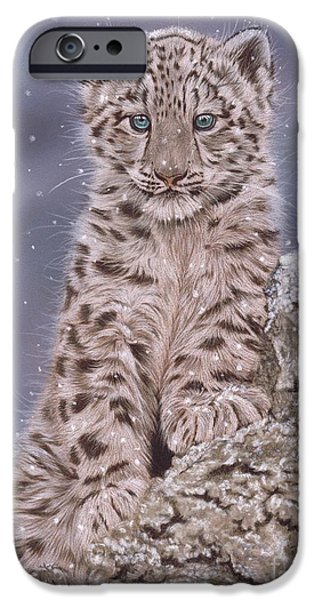 Snowy Pastels iPhone Cases - The Snow Prince iPhone Case by Karie-Ann Cooper
