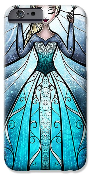 Snow iPhone Cases - The Snow Queen iPhone Case by Mandie Manzano