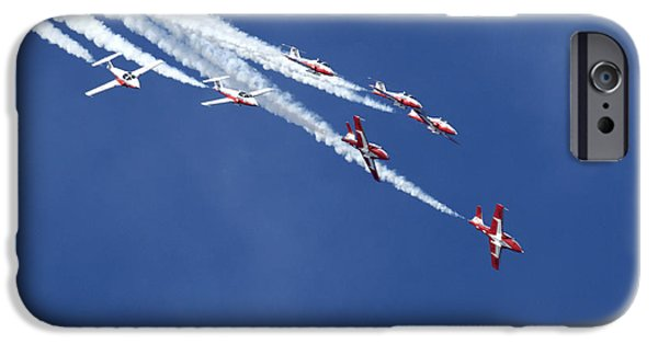 Snowbird iPhone Cases - The Snowbirds In Harmony iPhone Case by Bob Christopher