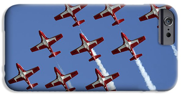 Snowbird iPhone Cases - The Snowbirds Keeping It Tight iPhone Case by Bob Christopher