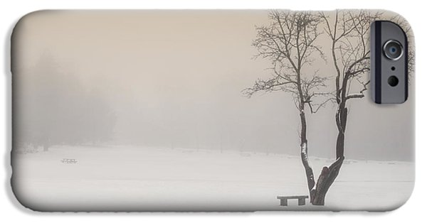 Minimalism iPhone Cases - The Solitude of Winter iPhone Case by Bill  Wakeley