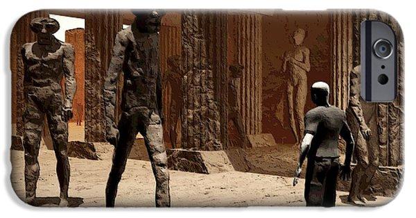 Walker Digital Art iPhone Cases - The Somnambulist In The Underworld iPhone Case by John Alexander