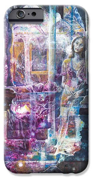 Ruin Mixed Media iPhone Cases - The Song Plays On iPhone Case by Patricia Allingham Carlson