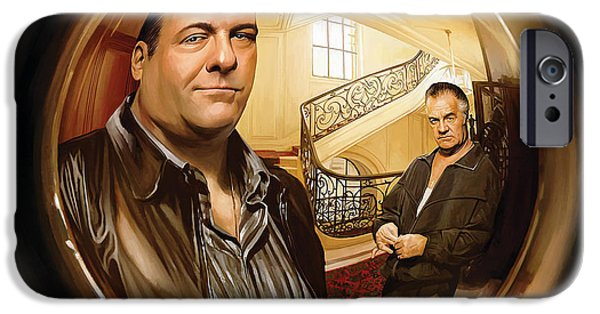 Soprano iPhone Cases - The Sopranos  Artwork 1 iPhone Case by Sheraz A