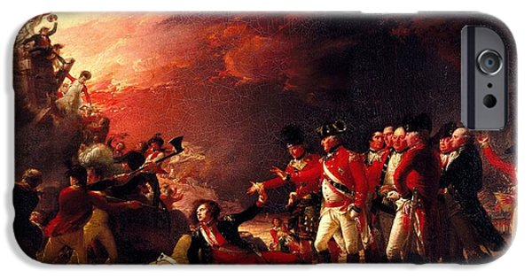 Wounded iPhone Cases - The Sortie From Gibraltar, 1788 Oil On Canvas iPhone Case by John Trumbull
