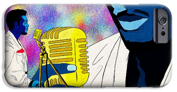 Art Of Soul Music iPhone Cases - The Soul Singer iPhone Case by Kenal Louis
