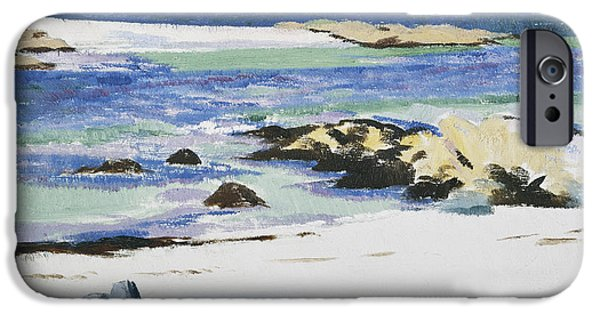 Twentieth Century iPhone Cases - The Sound of Mull from Iona iPhone Case by Francis Campbell Boileau Cadell