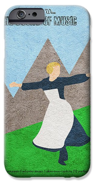 Nerd iPhone Cases - The Sound of Music iPhone Case by Ayse Deniz
