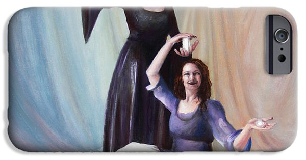 Spiritual Portrait Of Woman iPhone Cases - The Source iPhone Case by Shelley  Irish