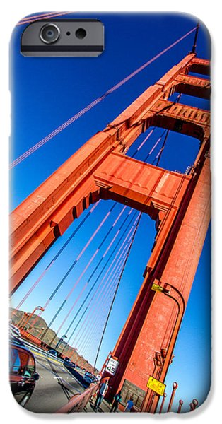Bill Gallagher iPhone Cases - The South Tower iPhone Case by Bill Gallagher