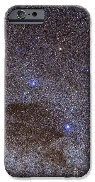 Constellations iPhone Cases - The Southern Cross And Coalsack Nebula iPhone Case by Alan Dyer