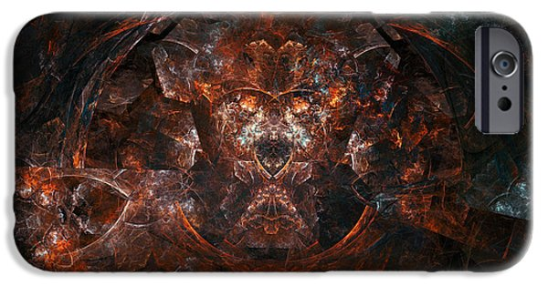 Fallen Angels iPhone Cases - The Space of Hate iPhone Case by Martin Capek