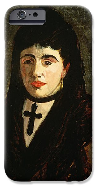 Choker iPhone Cases - The Spaniard iPhone Case by Edouard Manet