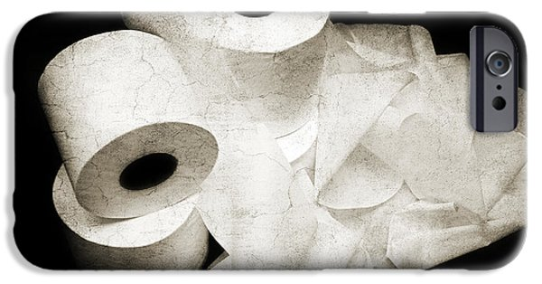 Ply iPhone Cases - The Spare Rolls 2 - Toilet Paper - Bathroom Design - Restroom - Powder Room iPhone Case by Andee Design