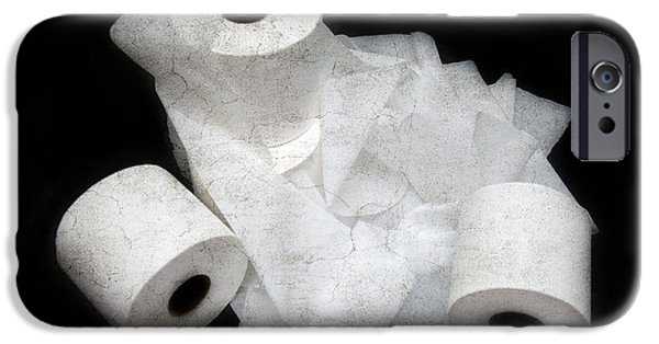 Ply iPhone Cases - The Spare Rolls 3 - Toilet Paper - Bathroom Design - Restroom - Powder Room iPhone Case by Andee Design
