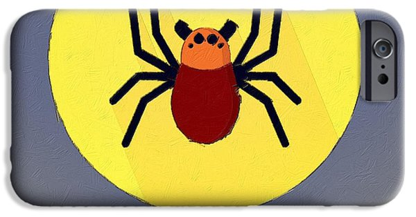 Spider iPhone Cases - The Spider Cute Portrait iPhone Case by Florian Rodarte