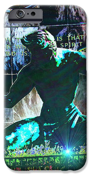 The Spirit of Detroit iPhone Case by Michael Rucker