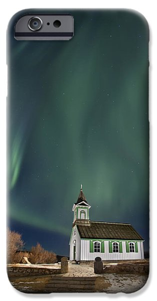 Northern Lights iPhone Cases - The Spirit of Iceland iPhone Case by Evelina Kremsdorf