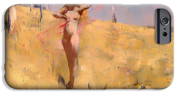 Eerie Paintings iPhone Cases - The Spirit of the Drought iPhone Case by Arthur Streeton