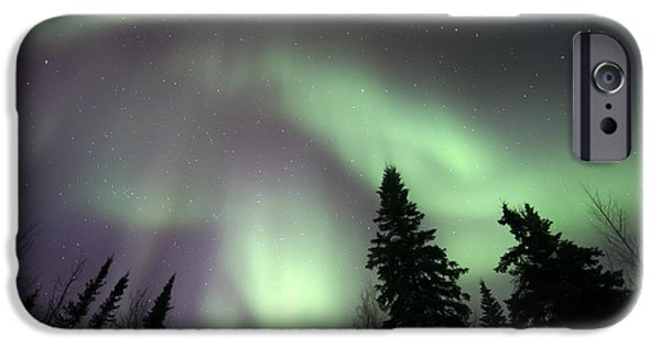 Aurora iPhone Cases - The Spirits Are Dancing iPhone Case by Priska Wettstein