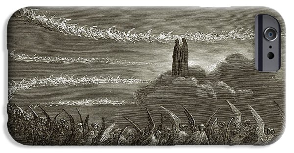 Allegory iPhone Cases - The Spirits in Jupiter iPhone Case by Gustave Dore