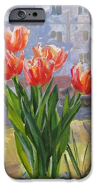 Flower Bouquet iPhone Cases - The spring comes again iPhone Case by Victoria Kharchenko
