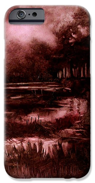The SPRING EEL FLOODING or Red and Green Don't make Brown iPhone Case by Charlie Spear