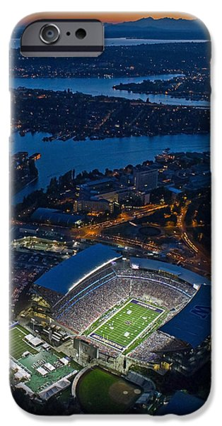 Best Sellers -  - Husky iPhone Cases - The Stadium at Dusk iPhone Case by Max Waugh