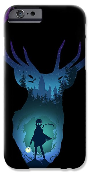 Hogwarts iPhone Cases - The Stag iPhone Case by Christopher Ables