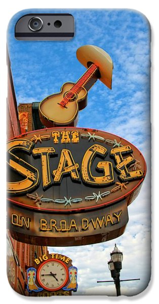 Buildings In Nashville iPhone Cases - The Stage On Broadway iPhone Case by Dan Sproul
