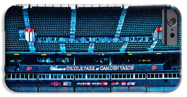 Camden Yards iPhone Cases - The Stands at Oriole Park iPhone Case by Bill Cannon