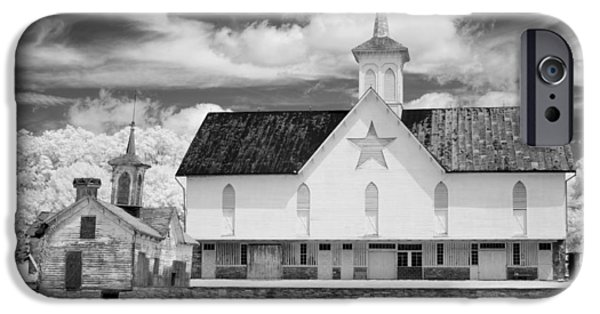 Old Barns iPhone Cases - The Star Barn - Infrared iPhone Case by Paul W Faust -  Impressions of Light