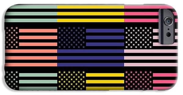 Waving Flag Mixed Media iPhone Cases - The star flag iPhone Case by Toppart Sweden