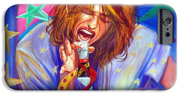 Steven Tyler Paintings iPhone Cases - The Star Is Born iPhone Case by To-Tam Gerwe