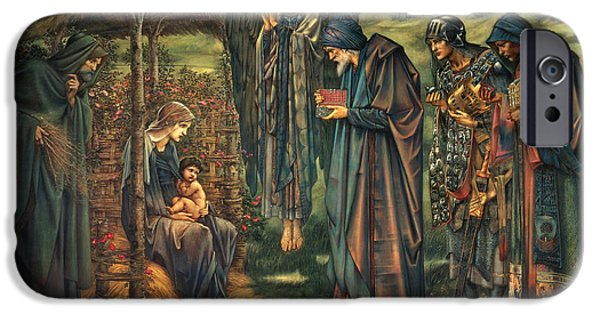Star Of Bethlehem iPhone Cases - The Star of Bethlehem iPhone Case by Edward Burne-Jones