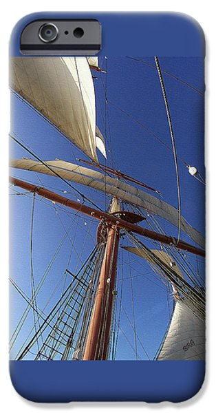 Tall Ship iPhone Cases - The Star Of India. Mast And Sails iPhone Case by Ben and Raisa Gertsberg