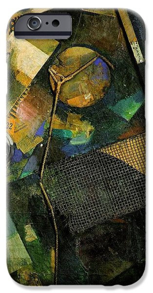 Cardboard Mixed Media iPhone Cases - The Star Picture 1920 iPhone Case by Kurt Schwitters