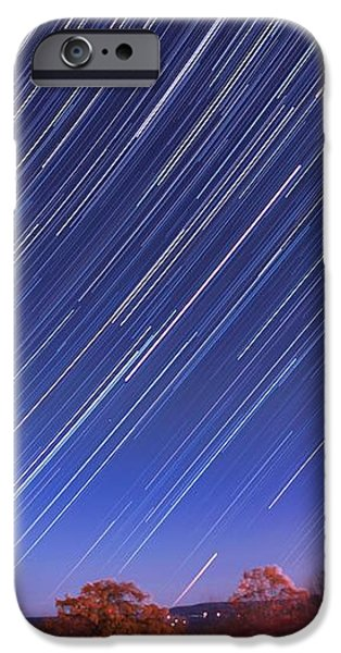 The star trail in Ithaca iPhone Case by Paul Ge