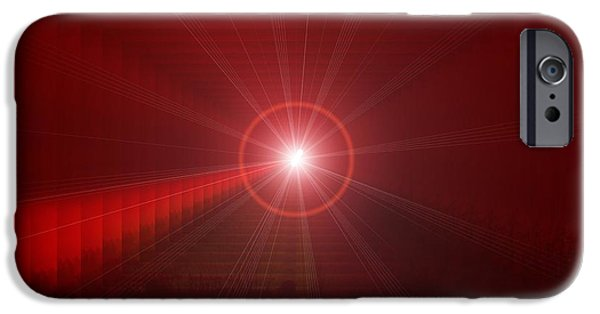 Abstract Digital Photographs iPhone Cases - The Star Tunnel iPhone Case by Jeff  Swan