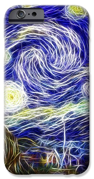 The Starry Night Reimagined iPhone Case by Adam Romanowicz