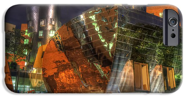 City. Boston iPhone Cases - The Stata Center at MIT iPhone Case by Joann Vitali