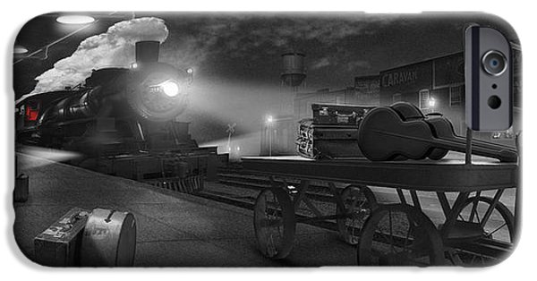 The Horse iPhone Cases - The Station - Panoramic iPhone Case by Mike McGlothlen