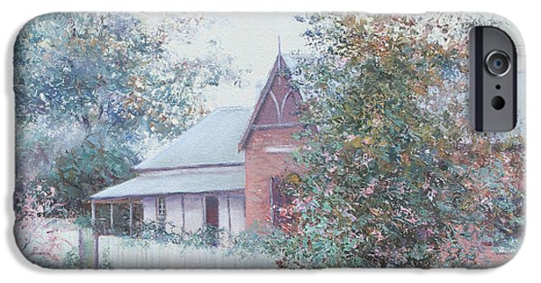 Garden Scene Paintings iPhone Cases - The Stationmasters Cottage iPhone Case by Jan Matson